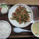 大阪王将 - チンジャオロース定食890円