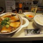大醤軒 - 料理写真:チャーシューメン & Dセット(卵かけご飯)