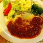 創美味 - 豚ロースのチーズ焼き トマトソース