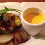 オゥ・レギューム - ポタージュと野菜のロースト