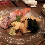 aguriguddomu-n - お造り、青柳、釣り鯵、スモーク金目鯛