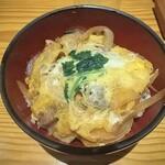 湖穂里 - 川俣シャモの親子丼!硬いと噂のシャモは初めて食べましたが柔らかくて美味しかったです。