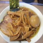 春木屋 - 中華そば+煮玉子+メンマ(小)
