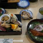 鮨・あつ賀 - 全部では、こんな感じ。食べ切れませんでした。