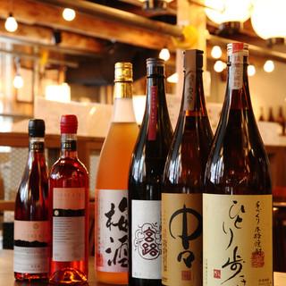 宮崎県を中心に、品揃え豊富な焼酎