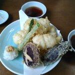 小松屋 - 地物鱧の天ぷら1,200円。肉厚で美味しい~。野菜天も美味しい