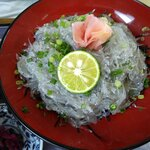 小松屋 - 朝獲れ生しらす丼1,500円。苦味や臭みが全く無くて美味しかったです