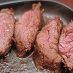 130667113 - 牛ハラミの塊肉ステーキランチ(150g) 1380円
