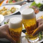 堺筋本町 路地裏ダイニング じぇいず - 生ビールで乾杯!