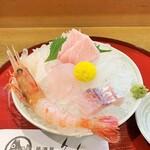 魚人 - 造り盛り。1400円~