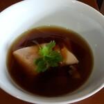 130679955 - 「鶏そば」スープのつけ汁(2020年5月26日)
