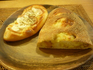 パン・オ・セーグル - スモークチキンチーズロール、ショルダーベーコンチーズロール