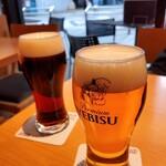 130687993 - エビスハーフ&ハーフ とエビス生ビール