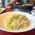Haihaitenzankaku - 蟹肉入りレタス炒飯