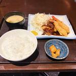 串かつ 関 - ヒレかつとエビフライ定食