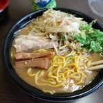 130694070 - 炙り味噌ラーメン 850円 + 特盛(麺倍) 150円