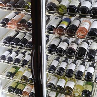 世界最高峰のワインや、プレミアムウィスキーが楽しめる