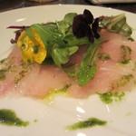 カフェターブルビジュー - 本日のお魚 カルパッチョ(ブダイ)