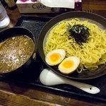 さちろう - 醤油つけ麺(冷たい麺)、並、750円。