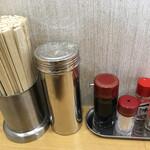 スター食堂 - 卓上の調味料などです