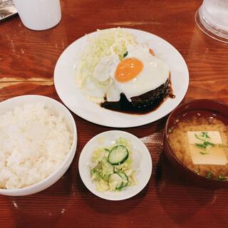 小古食堂 - 料理写真:ハンバーグライス ご飯大盛り 1500+100=1600円