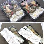 路地裏のShiki - SHOKI膳(一つ1000円:税込)・・献立表が添付されているのはいいですね。