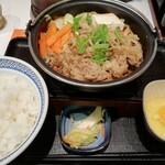 吉野家 - 牛すき鍋膳 大盛り(¥748)