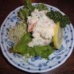 はなみず木楽食処 - ポテトサラダです。シミジミ旨い!