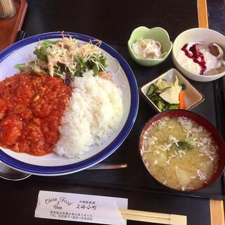 上海小町 - 料理写真:エビチリ定食