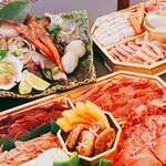 アロ カフェ - 浜焼き焼き肉盛合せ