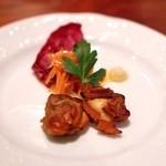 ブルーカナリヤ - 料理写真:白はまぐりの燻製