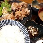 yotsuyasanchoumeimaiyahonten - もも肉のから揚げ御膳