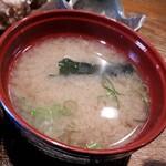 yotsuyasanchoumeimaiyahonten - 味噌汁