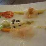 レストラン アキュイ - 天然真鯛のカルパッチョ