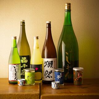 バリエーション豊富な日本酒に舌鼓