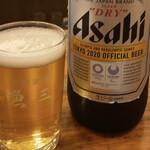 130751624 - 瓶ビール 大瓶 580円。