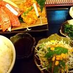 松阪牛たんど - カルビ・ホルモン定食1,380円(税別)