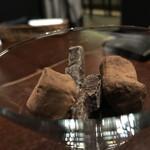 オステリア バーヴァ - オレンジピールのチョココーティング