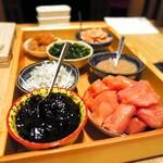 焼き鳥 瀧口 - 土鍋ご飯に合わせるのは、選べる3種のおかず