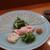 小魚料理 とみ助 - かわはぎのうす造り