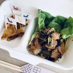 teppan仁六 - 【おつまみ2種】広島菜キムチと豚トロ炒め&がんす