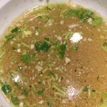 めいげんそ - スープ割に薬味の追加も