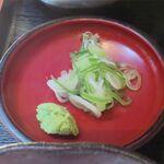 蕎傳 - 薬味のアップ