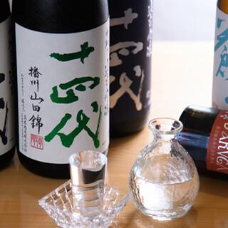 魚介・肉との相性抜群!京都地酒や厳選した全国の銘酒がずらり