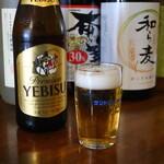 杏庵 - サッポロヱビスビール中瓶