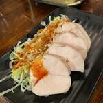 串焼き処ディズ - 蒸し鶏四川ソース
