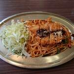 レストラン小清水 - スパゲティーかつ