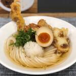 麺屋 坂本01 - 鶏ミックスぶっかけ830円(今月末まで780円)