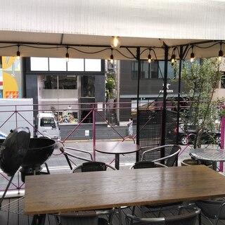 【明治通りで駅前BBQ】屋上テラスあり。手ぶらOK