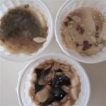 浅草豆花大王 - 左上(緑豆、白きくらげ)、右上(小豆)、下(ピーナッツ、仙草ゼリー)